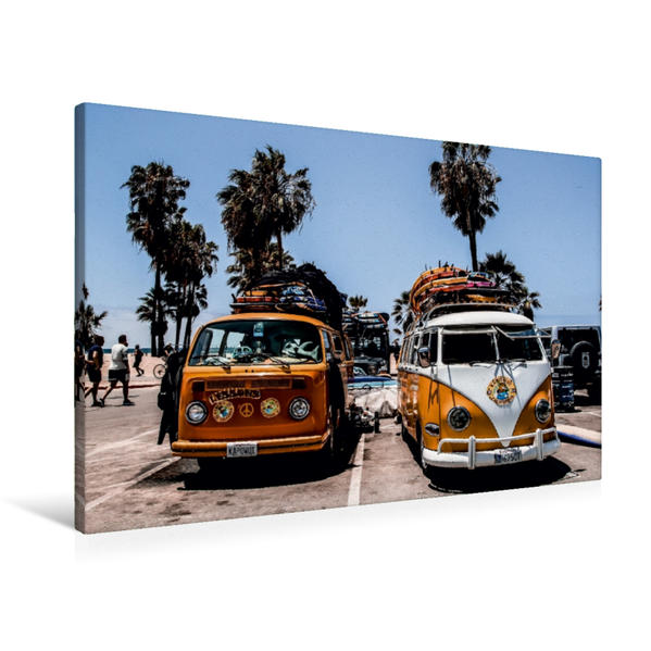Premium Textil-Leinwand 90 cm x 60 cm quer, Ein Motiv aus dem Kalender Venice Beach 2017 bunt - verrückt - einzigartig | Wandbild, Bild auf Keilrahmen, Fertigbild auf echter Leinwand, Leinwanddruck - Coverbild