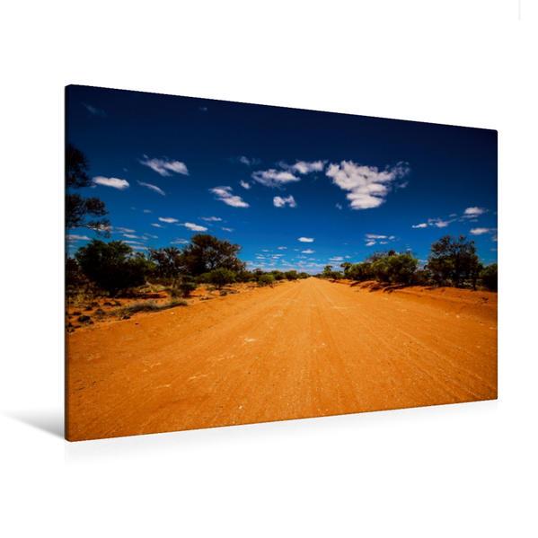 Premium Textil-Leinwand 120 cm x 80 cm quer, Outbackroad | Wandbild, Bild auf Keilrahmen, Fertigbild auf echter Leinwand, Leinwanddruck - Coverbild