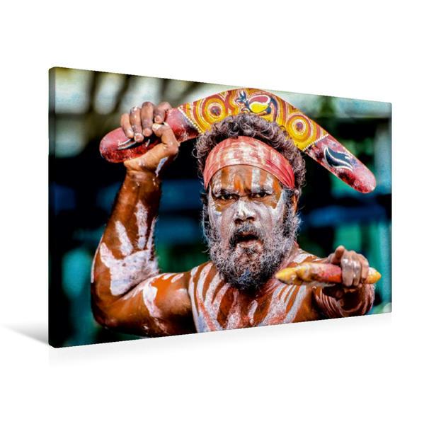 Premium Textil-Leinwand 90 cm x 60 cm quer, Aboriginal People | Wandbild, Bild auf Keilrahmen, Fertigbild auf echter Leinwand, Leinwanddruck - Coverbild