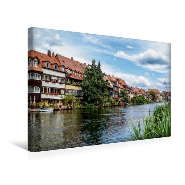 Premium Textil-Leinwand 45 cm x 30 cm quer, Bamberg   Wandbild, Bild auf Keilrahmen, Fertigbild auf echter Leinwand, Leinwanddruck - Coverbild
