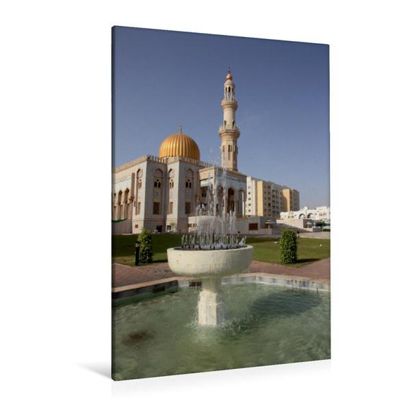 Premium Textil-Leinwand 80 cm x 120 cm  hoch, Moschee Zawawi in Al-Khuwair, Muscat, Sultanat Oman | Wandbild, Bild auf Keilrahmen, Fertigbild auf echter Leinwand, Leinwanddruck - Coverbild