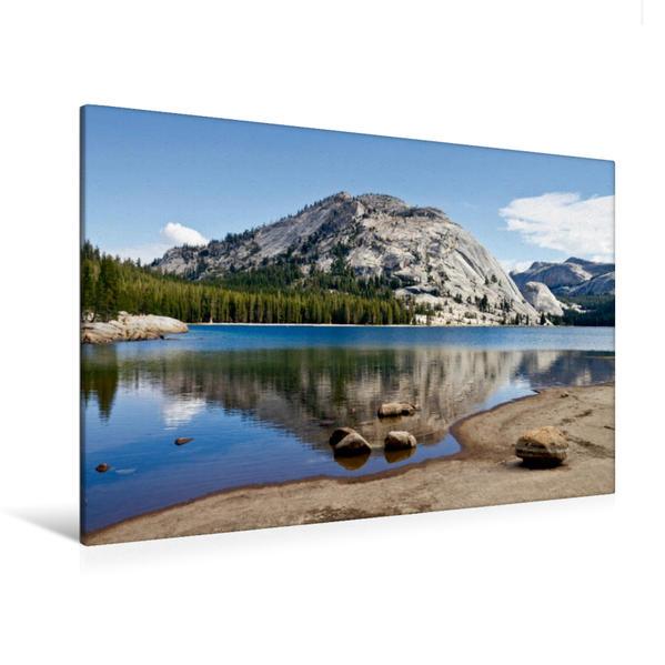 Premium Textil-Leinwand 120 cm x 80 cm quer, YOSEMITE Tenaya Lake | Wandbild, Bild auf Keilrahmen, Fertigbild auf echter Leinwand, Leinwanddruck - Coverbild