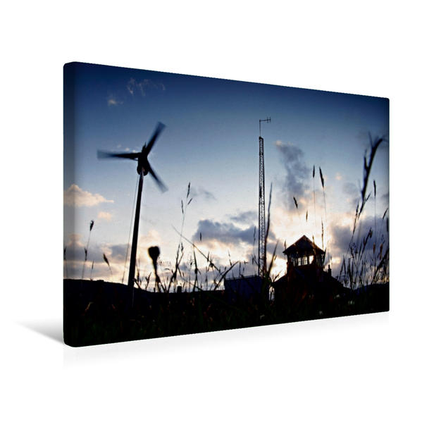 Premium Textil-Leinwand 45 cm x 30 cm quer, Corrour Station | Wandbild, Bild auf Keilrahmen, Fertigbild auf echter Leinwand, Leinwanddruck - Coverbild