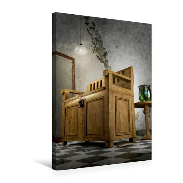 Premium Textil-Leinwand 50 cm x 75 cm hoch, Das Bankgeheimnis | Wandbild, Bild auf Keilrahmen, Fertigbild auf echter Leinwand, Leinwanddruck - Coverbild