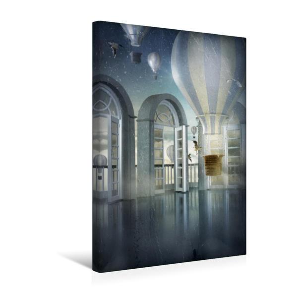 Premium Textil-Leinwand 30 cm x 45 cm hoch, Über den Wolken | Wandbild, Bild auf Keilrahmen, Fertigbild auf echter Leinwand, Leinwanddruck - Coverbild