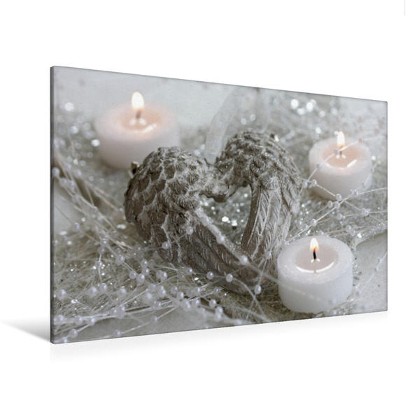 Premium Textil-Leinwand 120 cm x 80 cm quer, Ein Motiv aus dem Kalender In fröhlicher Weihnachtsstimmung | Wandbild, Bild auf Keilrahmen, Fertigbild auf echter Leinwand, Leinwanddruck - Coverbild