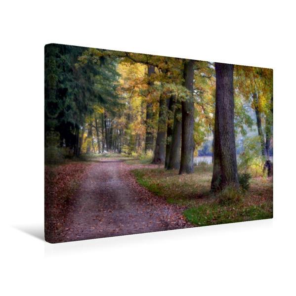 Premium Textil-Leinwand 45 cm x 30 cm quer, alte (Haupt)Straße | Wandbild, Bild auf Keilrahmen, Fertigbild auf echter Leinwand, Leinwanddruck - Coverbild