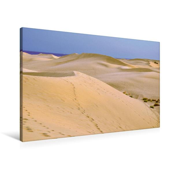 Premium Textil-Leinwand 90 cm x 60 cm quer, Ein Motiv aus dem Kalender GRAN CANARIA/Dünen von Maspalomas | Wandbild, Bild auf Keilrahmen, Fertigbild auf echter Leinwand, Leinwanddruck - Coverbild