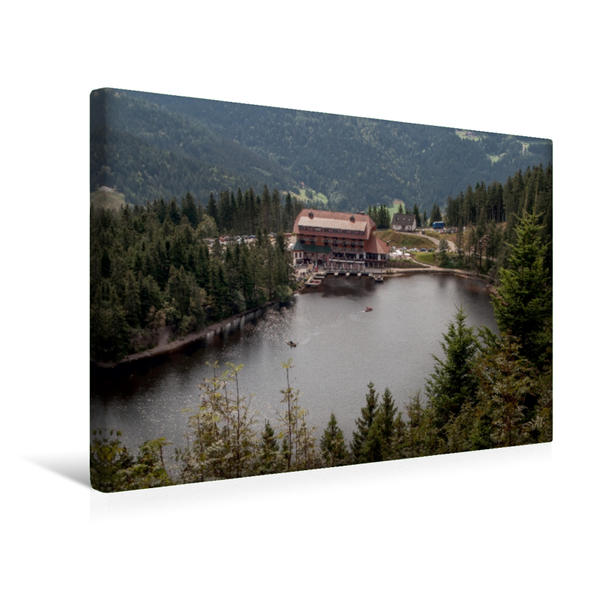 Premium Textil-Leinwand 45 cm x 30 cm quer, Der Mummelsee | Wandbild, Bild auf Keilrahmen, Fertigbild auf echter Leinwand, Leinwanddruck - Coverbild