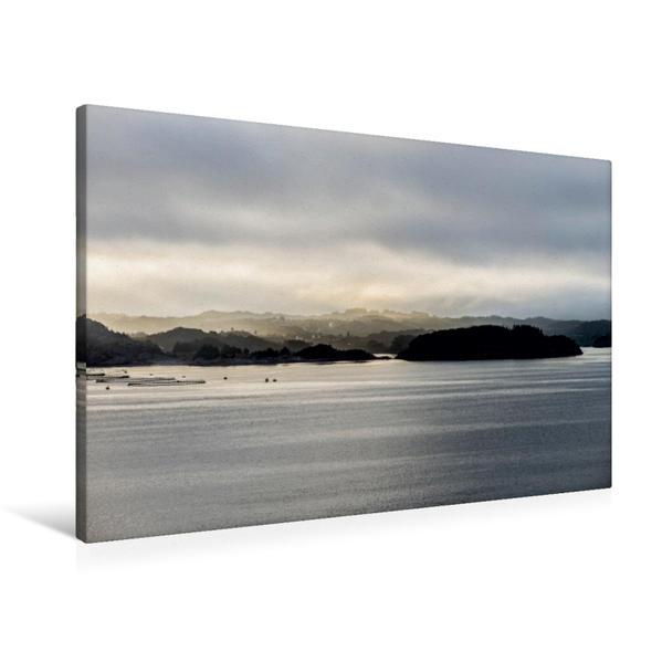 Premium Textil-Leinwand 90 cm x 60 cm quer, Früh am Morgen | Wandbild, Bild auf Keilrahmen, Fertigbild auf echter Leinwand, Leinwanddruck - Coverbild