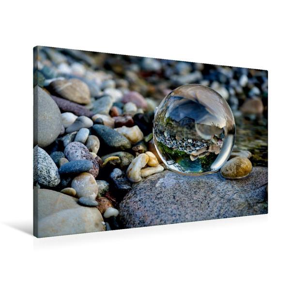 Premium Textil-Leinwand 90 cm x 60 cm quer, Ruhepole | Wandbild, Bild auf Keilrahmen, Fertigbild auf echter Leinwand, Leinwanddruck - Coverbild