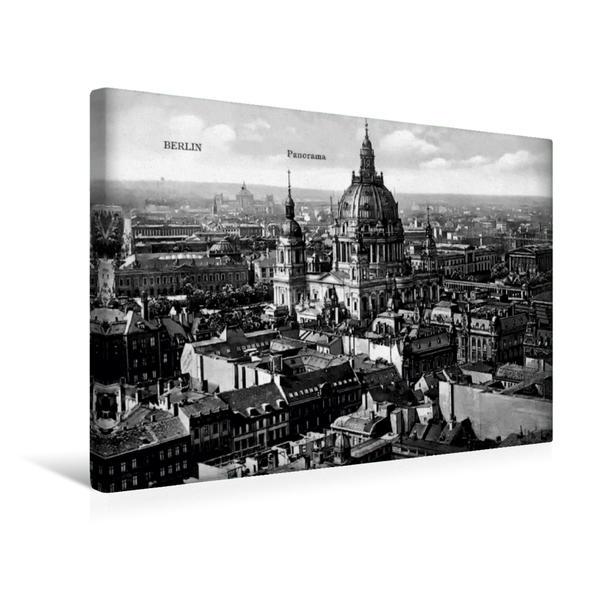 Premium Textil-Leinwand 45 cm x 30 cm quer, Berliner Dom | Wandbild, Bild auf Keilrahmen, Fertigbild auf echter Leinwand, Leinwanddruck - Coverbild