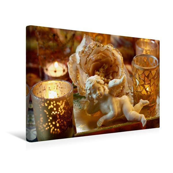 Premium Textil-Leinwand 45 cm x 30 cm quer, Ein Motiv aus dem Kalender In fröhlicher Weihnachtsstimmung   Wandbild, Bild auf Keilrahmen, Fertigbild auf echter Leinwand, Leinwanddruck - Coverbild