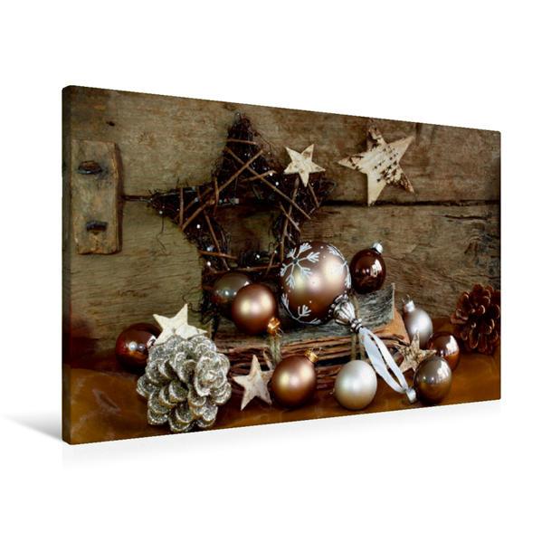 Premium Textil-Leinwand 90 cm x 60 cm quer, Ein Motiv aus dem Kalender In fröhlicher Weihnachtsstimmung   Wandbild, Bild auf Keilrahmen, Fertigbild auf echter Leinwand, Leinwanddruck - Coverbild