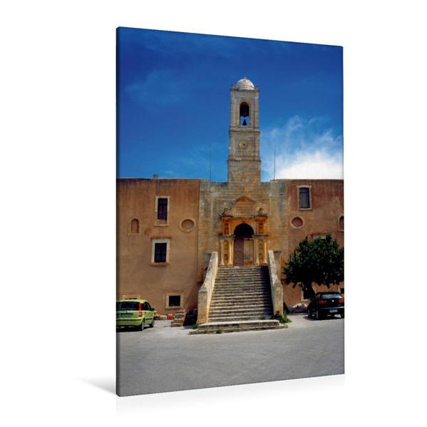 Premium Textil-Leinwand 80 cm x 120 cm  hoch, Kloster Tzagarolon | Wandbild, Bild auf Keilrahmen, Fertigbild auf echter Leinwand, Leinwanddruck - Coverbild