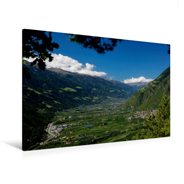 Premium Textil-Leinwand 120 cm x 80 cm quer, Ein Motiv aus dem Kalender Schönes Südtirol | Wandbild, Bild auf Keilrahmen, Fertigbild auf echter Leinwand, Leinwanddruck - Coverbild