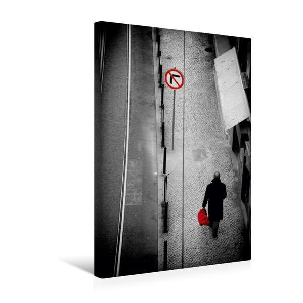 Premium Textil-Leinwand 30 cm x 45 cm hoch, Shopping in Lissabon   Wandbild, Bild auf Keilrahmen, Fertigbild auf echter Leinwand, Leinwanddruck - Coverbild