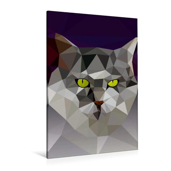 Premium Textil-Leinwand 80 cm x 120 cm  hoch, Katze | Wandbild, Bild auf Keilrahmen, Fertigbild auf echter Leinwand, Leinwanddruck - Coverbild