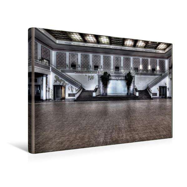 Premium Textil-Leinwand 45 cm x 30 cm quer, Die Eingangshalle | Wandbild, Bild auf Keilrahmen, Fertigbild auf echter Leinwand, Leinwanddruck - Coverbild
