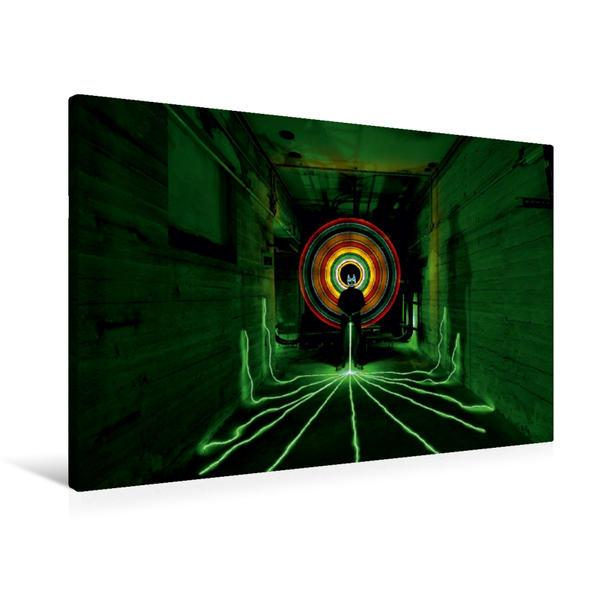 Premium Textil-Leinwand 90 cm x 60 cm quer, Green Energy | Wandbild, Bild auf Keilrahmen, Fertigbild auf echter Leinwand, Leinwanddruck - Coverbild