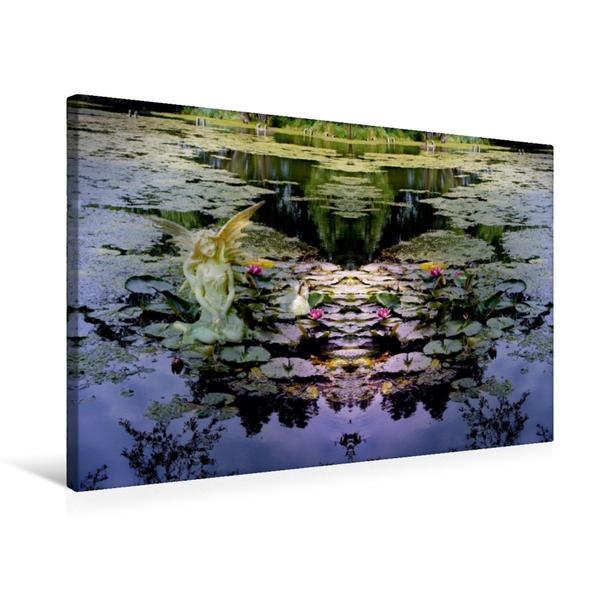 Premium Textil-Leinwand 75 cm x 50 cm quer, Ein Motiv aus dem Kalender Engel und Elfen begleiten Dich | Wandbild, Bild auf Keilrahmen, Fertigbild auf echter Leinwand, Leinwanddruck - Coverbild
