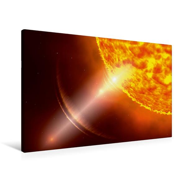 Premium Textil-Leinwand 90 cm x 60 cm quer, Sonnenenergie | Wandbild, Bild auf Keilrahmen, Fertigbild auf echter Leinwand, Leinwanddruck - Coverbild