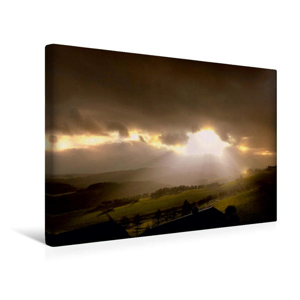 Premium Textil-Leinwand 45 cm x 30 cm quer, Energie | Wandbild, Bild auf Keilrahmen, Fertigbild auf echter Leinwand, Leinwanddruck - Coverbild