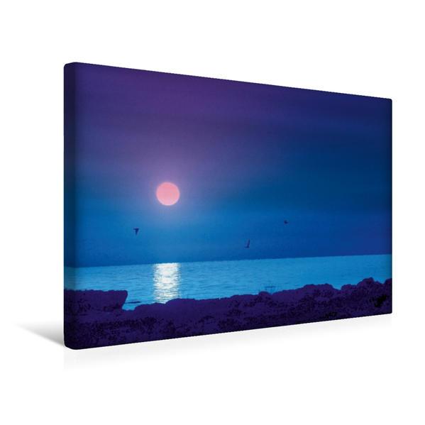 Premium Textil-Leinwand 45 cm x 30 cm quer, Strand und Meer | Wandbild, Bild auf Keilrahmen, Fertigbild auf echter Leinwand, Leinwanddruck - Coverbild