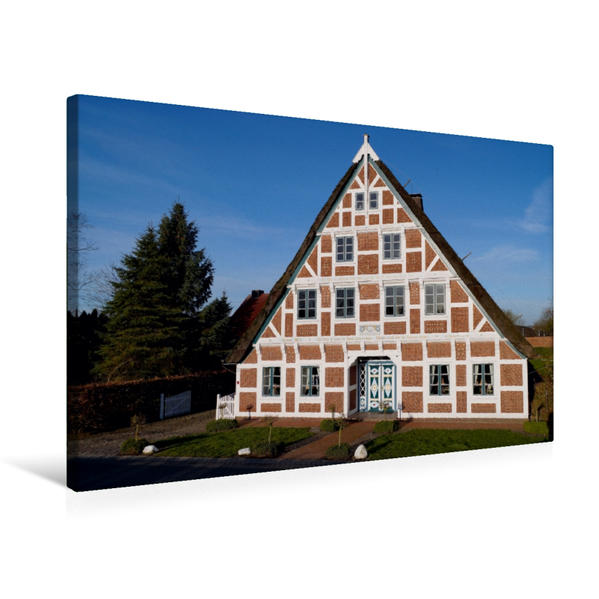 Premium Textil-Leinwand 75 cm x 50 cm quer, Erbaut 1822 | Wandbild, Bild auf Keilrahmen, Fertigbild auf echter Leinwand, Leinwanddruck - Coverbild
