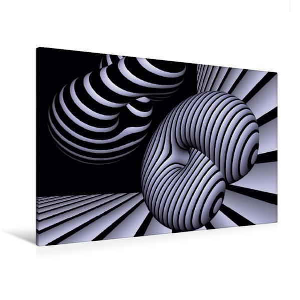Premium Textil-Leinwand 120 cm x 80 cm quer, Ein Motiv aus dem Kalender 3 Dimensionen - 2 Farben | Wandbild, Bild auf Keilrahmen, Fertigbild auf echter Leinwand, Leinwanddruck - Coverbild