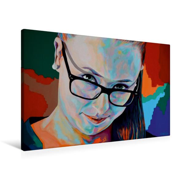 Premium Textil-Leinwand 90 cm x 60 cm quer, Denisa | Wandbild, Bild auf Keilrahmen, Fertigbild auf echter Leinwand, Leinwanddruck - Coverbild