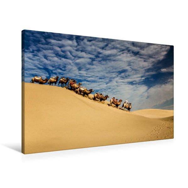 Premium Textil-Leinwand 90 cm x 60 cm quer, Mühsam | Wandbild, Bild auf Keilrahmen, Fertigbild auf echter Leinwand, Leinwanddruck - Coverbild