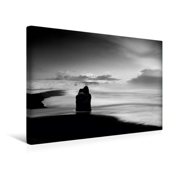 Premium Textil-Leinwand 45 cm x 30 cm quer, Dyrholaey, Island | Wandbild, Bild auf Keilrahmen, Fertigbild auf echter Leinwand, Leinwanddruck - Coverbild