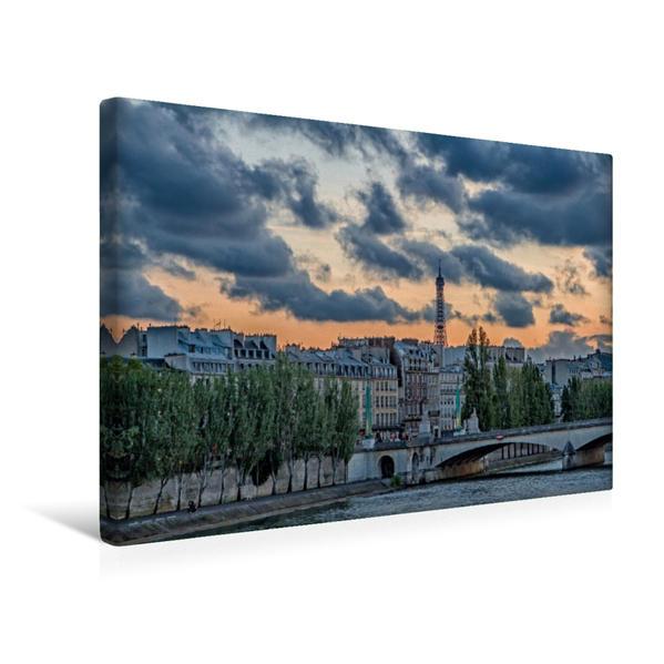 Premium Textil-Leinwand 45 cm x 30 cm quer, Ein Motiv aus dem Kalender Paris | Wandbild, Bild auf Keilrahmen, Fertigbild auf echter Leinwand, Leinwanddruck - Coverbild
