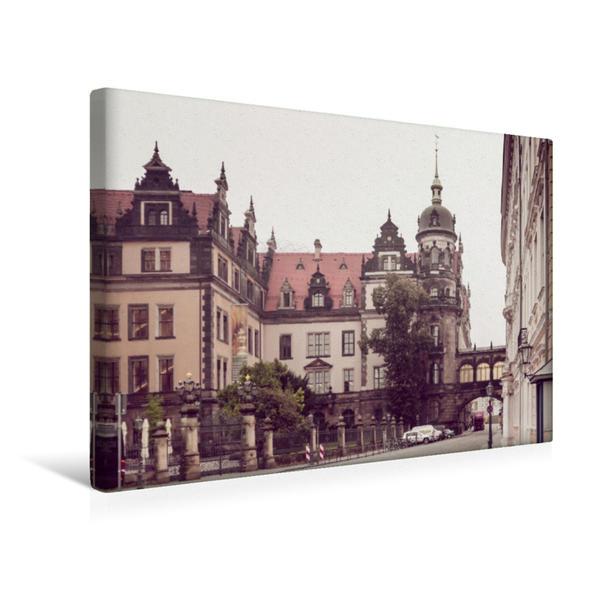 Premium Textil-Leinwand 45 cm x 30 cm quer, Das Residenzschloss in Dresden | Wandbild, Bild auf Keilrahmen, Fertigbild auf echter Leinwand, Leinwanddruck - Coverbild