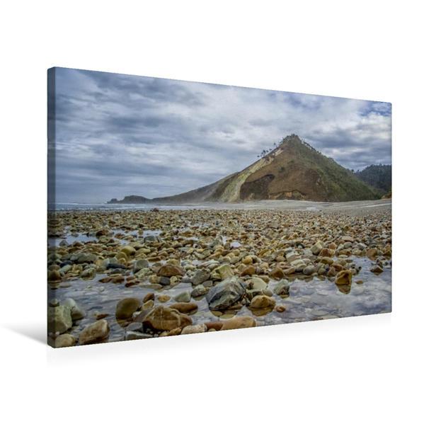 Premium Textil-Leinwand 75 cm x 50 cm quer, Playa de San Antonin | Wandbild, Bild auf Keilrahmen, Fertigbild auf echter Leinwand, Leinwanddruck - Coverbild