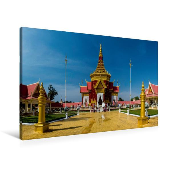 Premium Textil-Leinwand 90 cm x 60 cm quer, Phnom Penh | Wandbild, Bild auf Keilrahmen, Fertigbild auf echter Leinwand, Leinwanddruck - Coverbild