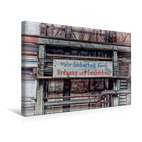 Premium Textil-Leinwand 45 cm x 30 cm quer, Hinweis | Wandbild, Bild auf Keilrahmen, Fertigbild auf echter Leinwand, Leinwanddruck - Coverbild