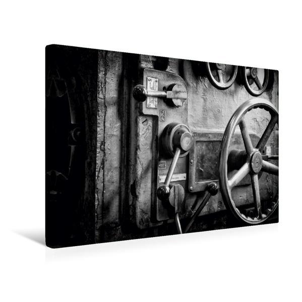 Premium Textil-Leinwand 45 cm x 30 cm quer, Drehbank | Wandbild, Bild auf Keilrahmen, Fertigbild auf echter Leinwand, Leinwanddruck - Coverbild