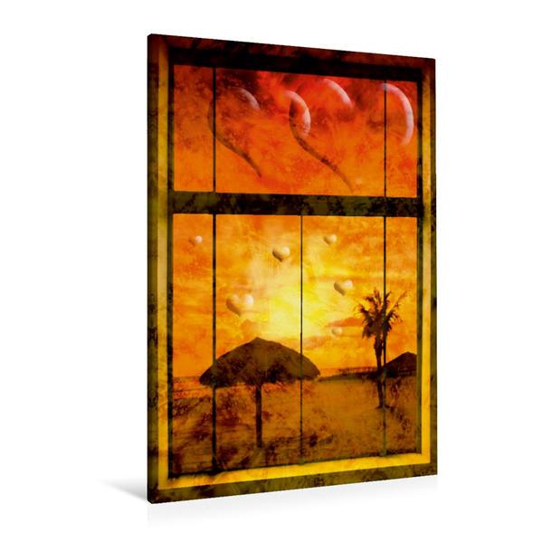 Premium Textil-Leinwand 80 cm x 120 cm  hoch, STRANDLEBEN Paradiesische Aussichten I   Wandbild, Bild auf Keilrahmen, Fertigbild auf echter Leinwand, Leinwanddruck - Coverbild
