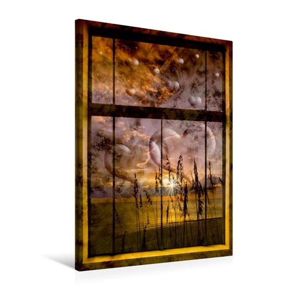 Premium Textil-Leinwand 60 cm x 90 cm hoch, STRANDLEBEN Paradiesische Aussichten III | Wandbild, Bild auf Keilrahmen, Fertigbild auf echter Leinwand, Leinwanddruck - Coverbild