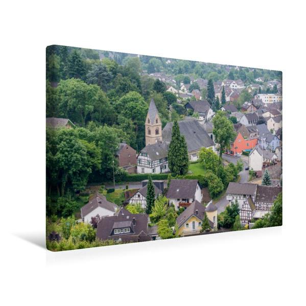 Premium Textil-Leinwand 45 cm x 30 cm quer, Weinort Oberdollendorf | Wandbild, Bild auf Keilrahmen, Fertigbild auf echter Leinwand, Leinwanddruck - Coverbild