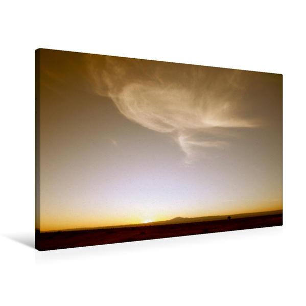 Premium Textil-Leinwand 90 cm x 60 cm quer, Abendsonne | Wandbild, Bild auf Keilrahmen, Fertigbild auf echter Leinwand, Leinwanddruck - Coverbild