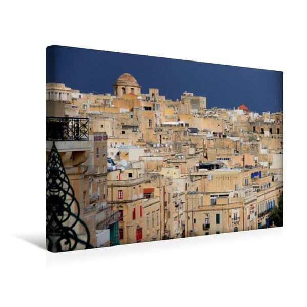 Premium Textil-Leinwand 45 cm x 30 cm quer, Valletta | Wandbild, Bild auf Keilrahmen, Fertigbild auf echter Leinwand, Leinwanddruck - Coverbild