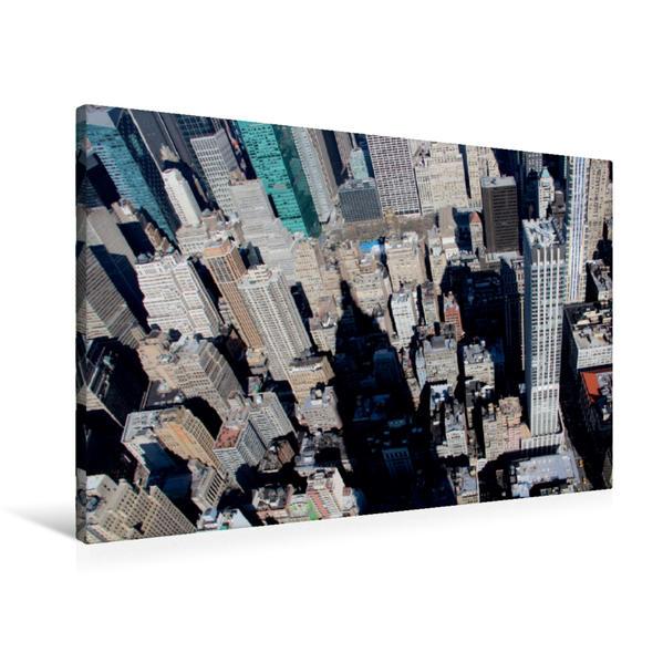 Premium Textil-Leinwand 90 cm x 60 cm quer, Blick vom Empire State Building | Wandbild, Bild auf Keilrahmen, Fertigbild auf echter Leinwand, Leinwanddruck - Coverbild