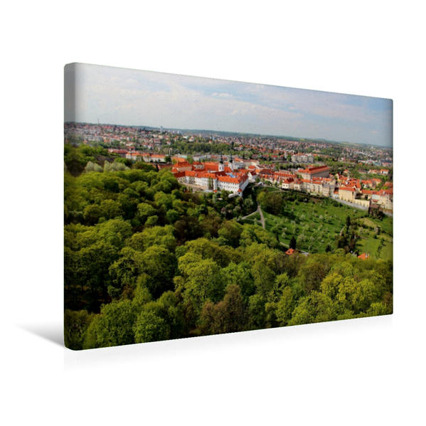 Premium Textil-Leinwand 45 cm x 30 cm quer, Blick auf Strahov Kloster   Wandbild, Bild auf Keilrahmen, Fertigbild auf echter Leinwand, Leinwanddruck - Coverbild