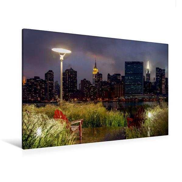 Premium Textil-Leinwand 120 cm x 80 cm quer, New York  Midtown | Wandbild, Bild auf Keilrahmen, Fertigbild auf echter Leinwand, Leinwanddruck - Coverbild