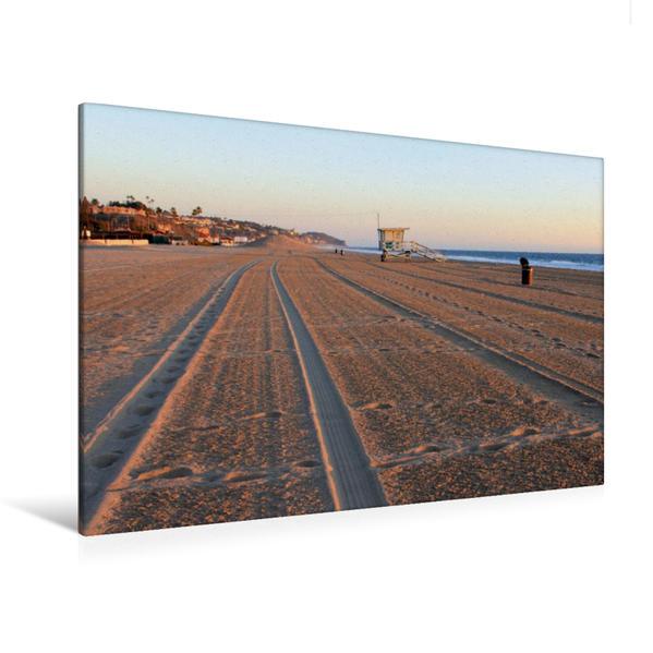 Premium Textil-Leinwand 120 cm x 80 cm quer, Malibu, Kalifornien, USA | Wandbild, Bild auf Keilrahmen, Fertigbild auf echter Leinwand, Leinwanddruck - Coverbild