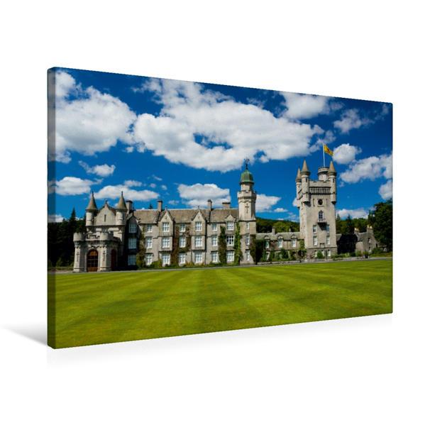 Premium Textil-Leinwand 75 cm x 50 cm quer, Balmoral Castle | Wandbild, Bild auf Keilrahmen, Fertigbild auf echter Leinwand, Leinwanddruck - Coverbild