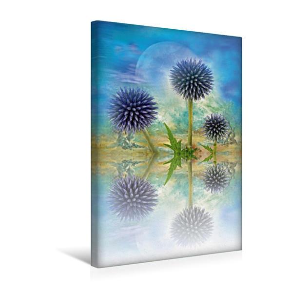 Premium Textil-Leinwand 30 cm x 45 cm hoch, Ein Motiv aus dem Kalender Reflektion   Wandbild, Bild auf Keilrahmen, Fertigbild auf echter Leinwand, Leinwanddruck - Coverbild